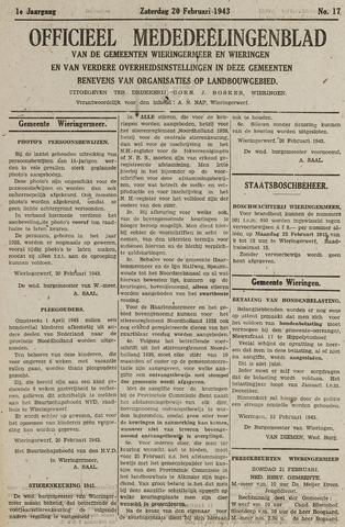 Mededeelingenblad Wieringermeer en Wieringen 1943-02-20