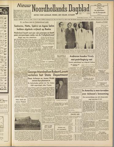 Nieuw Noordhollandsch Dagblad : voor Alkmaar en omgeving 1949-01-08