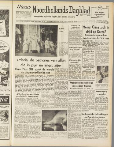 Nieuw Noordhollandsch Dagblad : voor Alkmaar en omgeving 1950-11-02