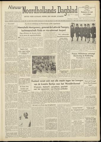 Nieuw Noordhollandsch Dagblad : voor Alkmaar en omgeving 1948-10-05