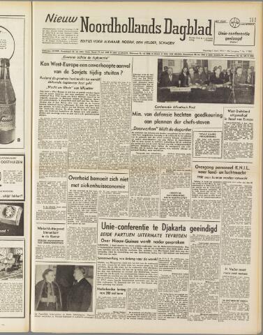Nieuw Noordhollandsch Dagblad : voor Alkmaar en omgeving 1950-04-03
