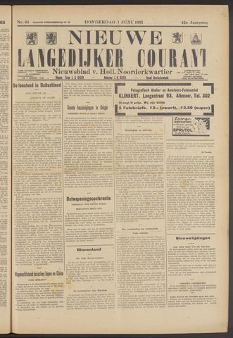 Nieuwe Langedijker Courant 1933-06-01