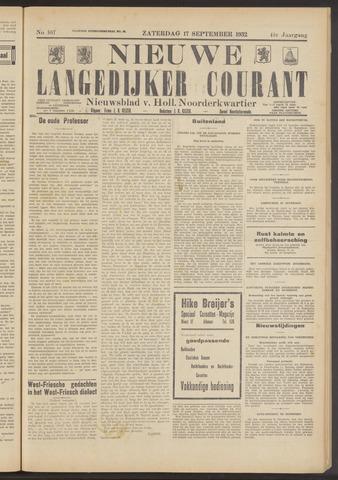 Nieuwe Langedijker Courant 1932-09-17