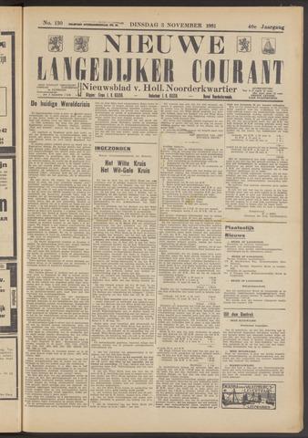 Nieuwe Langedijker Courant 1931-11-03