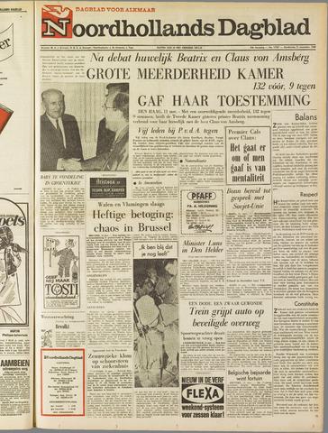 Noordhollands Dagblad : dagblad voor Alkmaar en omgeving 1965-11-11