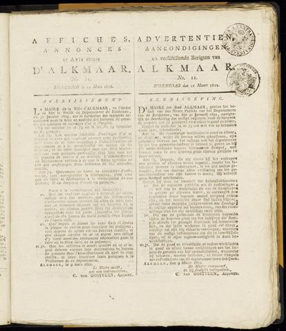 Alkmaarsche Courant 1812-03-11