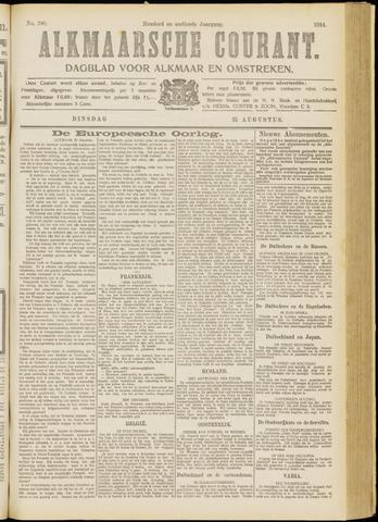 Alkmaarsche Courant 1914-08-25