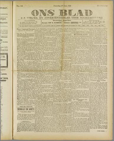 Ons Blad : katholiek nieuwsblad voor N-H 1920-06-19