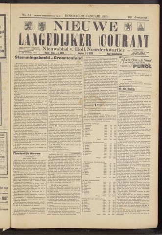 Nieuwe Langedijker Courant 1931-01-27