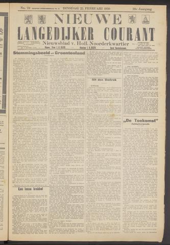 Nieuwe Langedijker Courant 1930-02-25