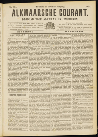 Alkmaarsche Courant 1905-09-14