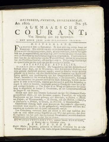Alkmaarsche Courant 1800-09-22
