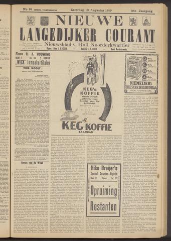 Nieuwe Langedijker Courant 1929-08-10