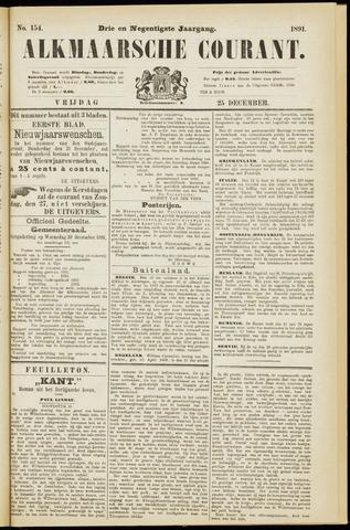 Alkmaarsche Courant 1891-12-25