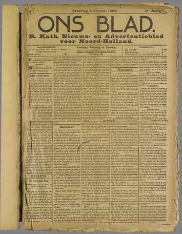 Ons Blad : katholiek nieuwsblad voor N-H 1909-01-02