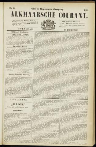 Alkmaarsche Courant 1892-02-10