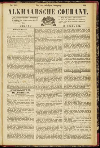 Alkmaarsche Courant 1884-12-12