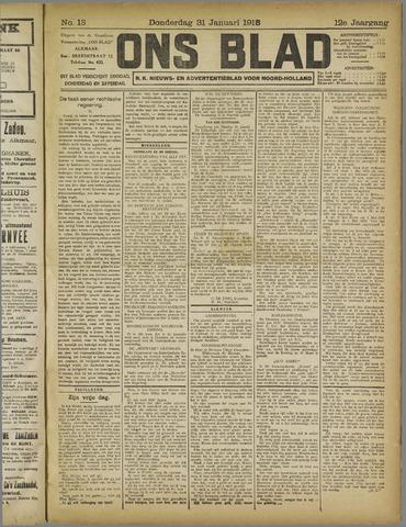 Ons Blad : katholiek nieuwsblad voor N-H 1918-01-31