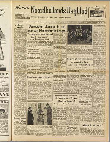 Nieuw Noordhollandsch Dagblad : voor Alkmaar en omgeving 1951-04-14