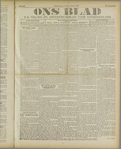Ons Blad : katholiek nieuwsblad voor N-H 1920-11-04