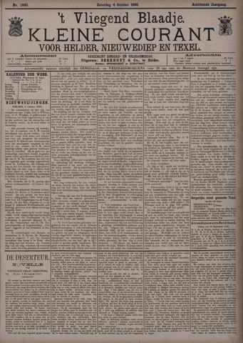 Vliegend blaadje : nieuws- en advertentiebode voor Den Helder 1890-10-04