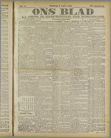 Ons Blad : katholiek nieuwsblad voor N-H 1919-04-08