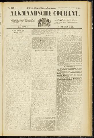 Alkmaarsche Courant 1893-12-03