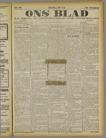 Ons Blad : katholiek nieuwsblad voor N-H 1918-07-30