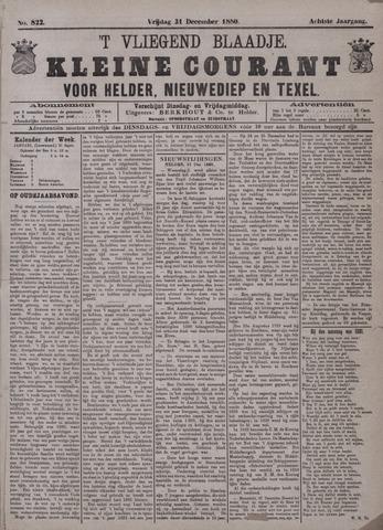 Vliegend blaadje : nieuws- en advertentiebode voor Den Helder 1880-12-31