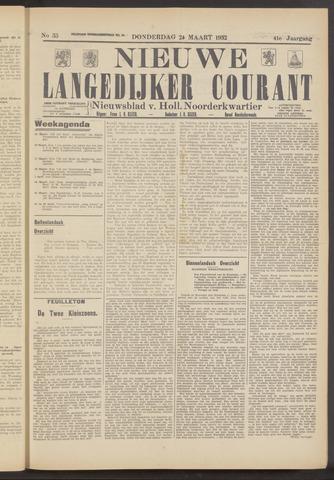 Nieuwe Langedijker Courant 1932-03-24