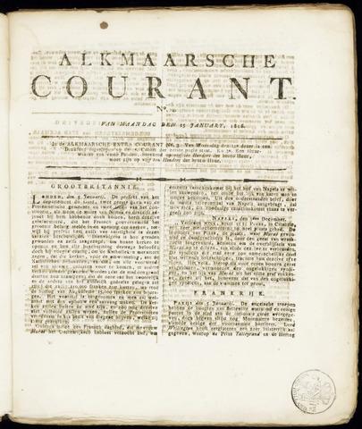Alkmaarsche Courant 1816-01-15