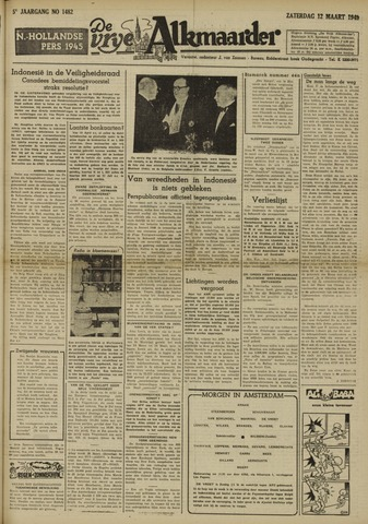 De Vrije Alkmaarder 1949-03-12