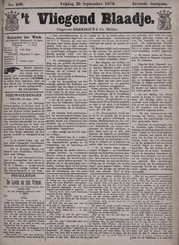 Vliegend blaadje : nieuws- en advertentiebode voor Den Helder 1879-09-26