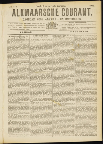 Alkmaarsche Courant 1905-11-17