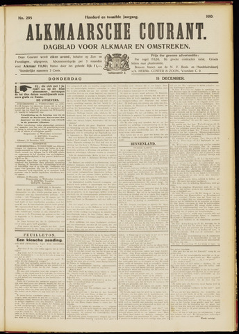 Alkmaarsche Courant 1910-12-15