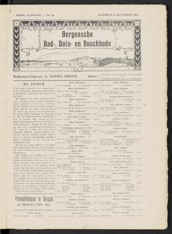 Bergensche bad-, duin- en boschbode 1913-09-06