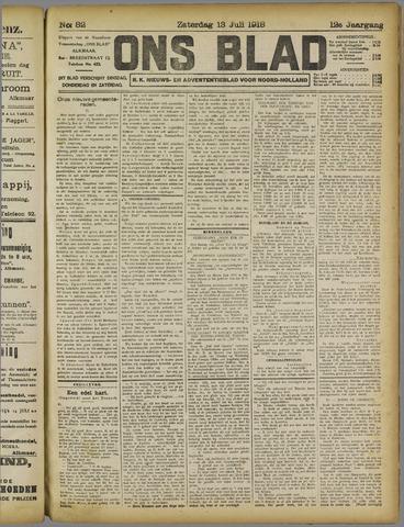 Ons Blad : katholiek nieuwsblad voor N-H 1918-07-13