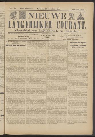 Nieuwe Langedijker Courant 1920-10-30