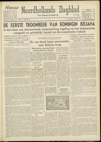 Nieuw Noordhollandsch Dagblad : voor Alkmaar en omgeving 1948-09-21