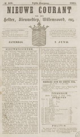 Nieuwe Courant van Den Helder 1865-06-03