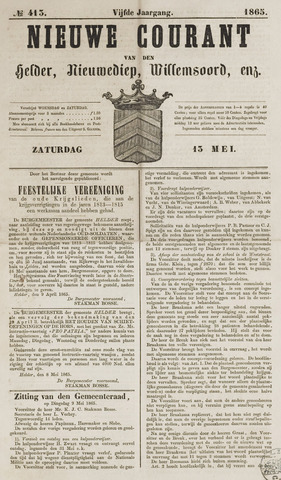 Nieuwe Courant van Den Helder 1865-05-13