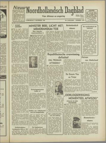 Nieuw Noordhollandsch Dagblad : voor Alkmaar en omgeving 1946-11-07