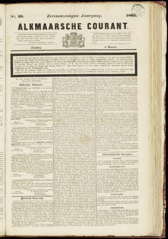 Alkmaarsche Courant 1865-03-05