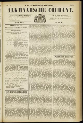 Alkmaarsche Courant 1892-06-19