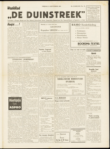 De Duinstreek 1962-09-21