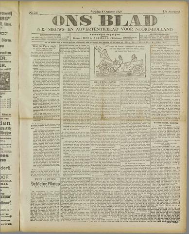 Ons Blad : katholiek nieuwsblad voor N-H 1920-10-08