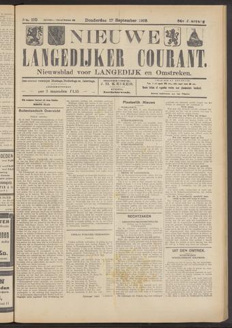 Nieuwe Langedijker Courant 1925-09-17