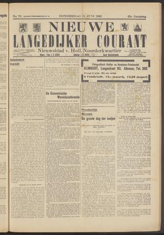 Nieuwe Langedijker Courant 1933-06-15