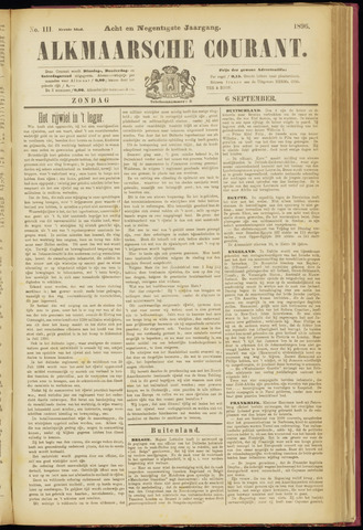 Alkmaarsche Courant 1896-09-06