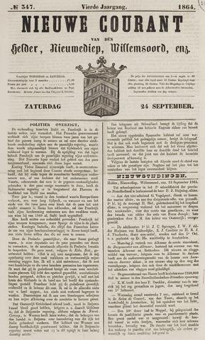 Nieuwe Courant van Den Helder 1864-09-24